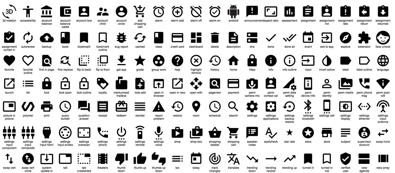 Google Responsive Design Icons