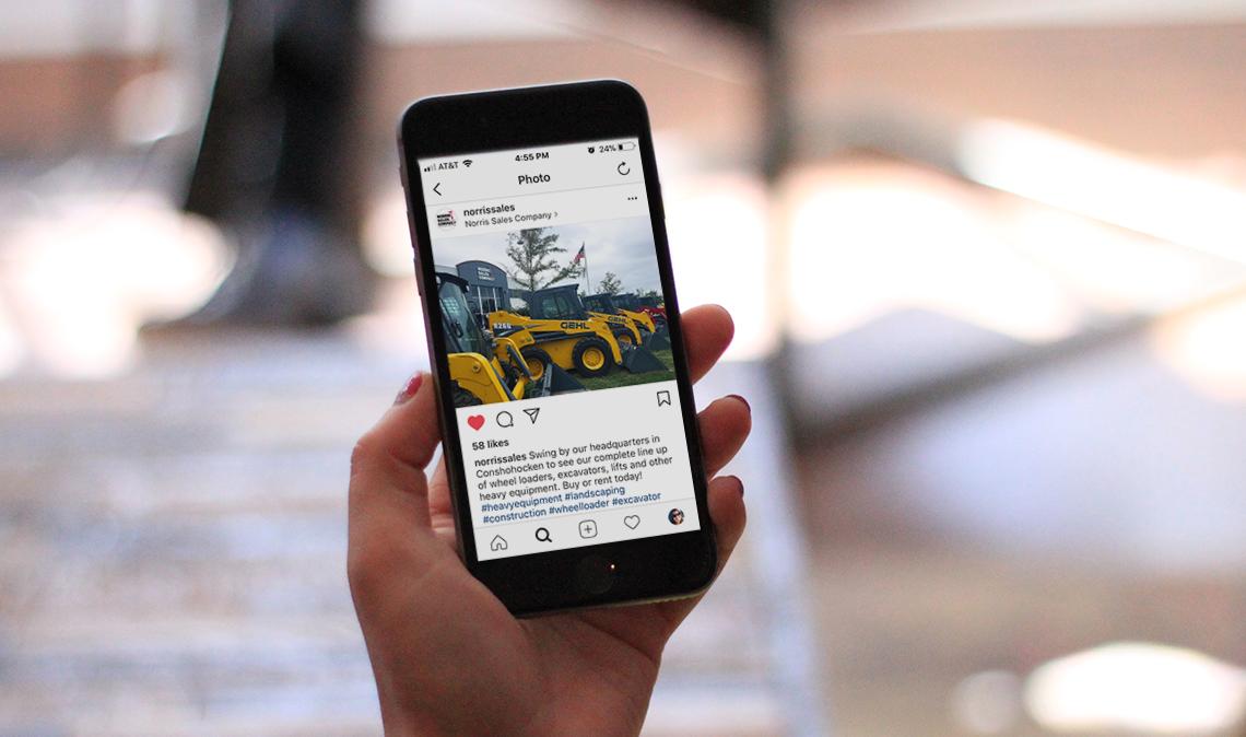 norris sales instagram on iphone