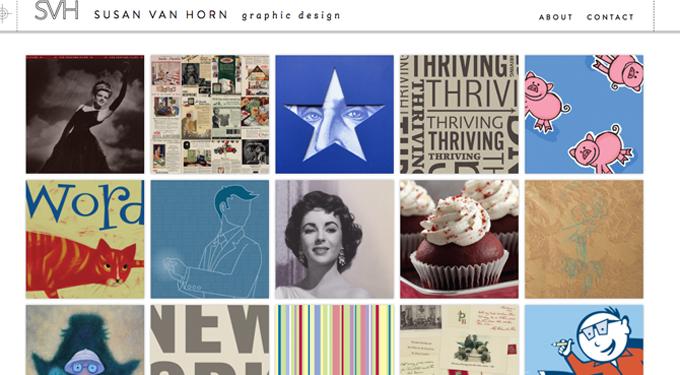 Susan Van Horn Graphic Design Website Launch