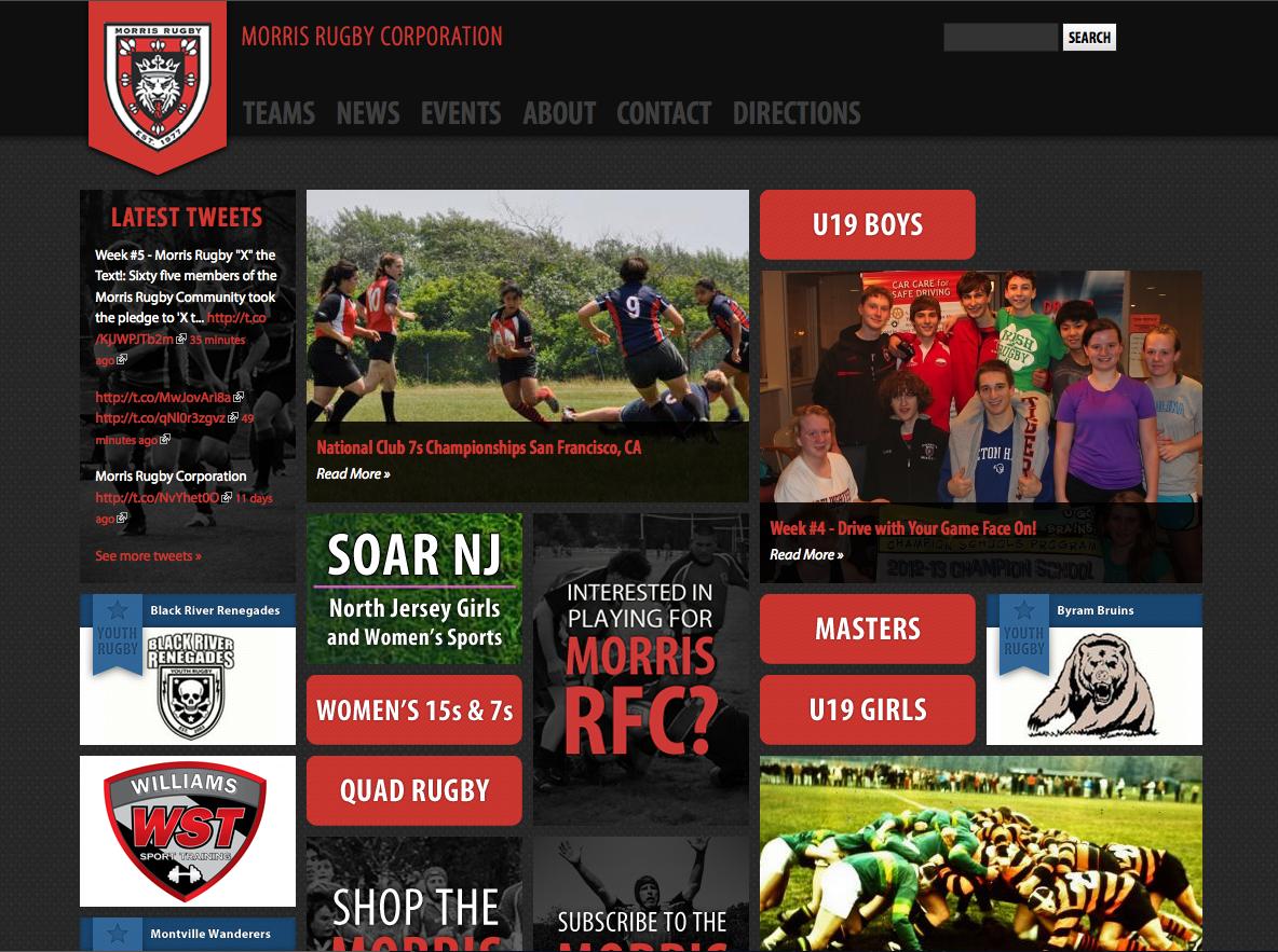 Morris Rugby Website Re-design