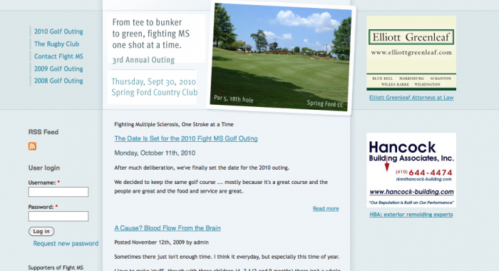 Fight MS Golf Outing WebPage