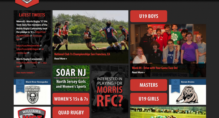 Morris Rugby Website Re-design