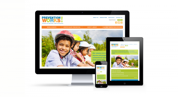 Prevention Works Website on iMac, iPad, and iPhone