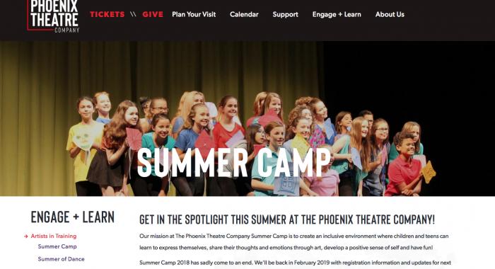 Website Launch: The Phoenix Theatre Company