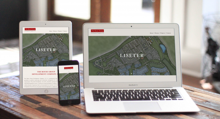 The Rouse Group Development Company Website on MacBook, iPad, and iPhone