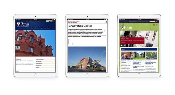 University of Pennsylvania websites on ipads