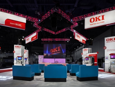 OKI Printing Solutions Trade Show Booth