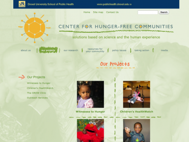 Center for Hunger-Free Communities Projects page