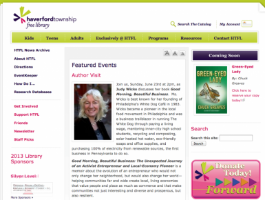 Haverford Township Free Library Website HomePage