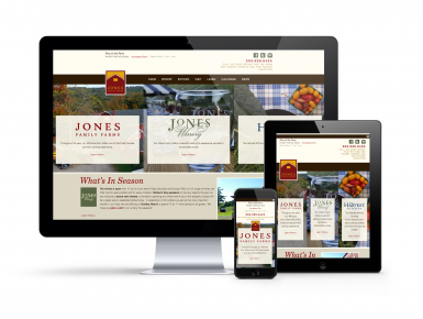 Jones Family Farm Responsive Design