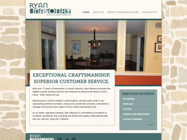 stone mason and building services contractor