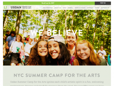 Summer Camp for the Arts outside NYC