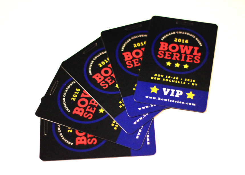 ACRC Bowl Series Badges and promotional materials