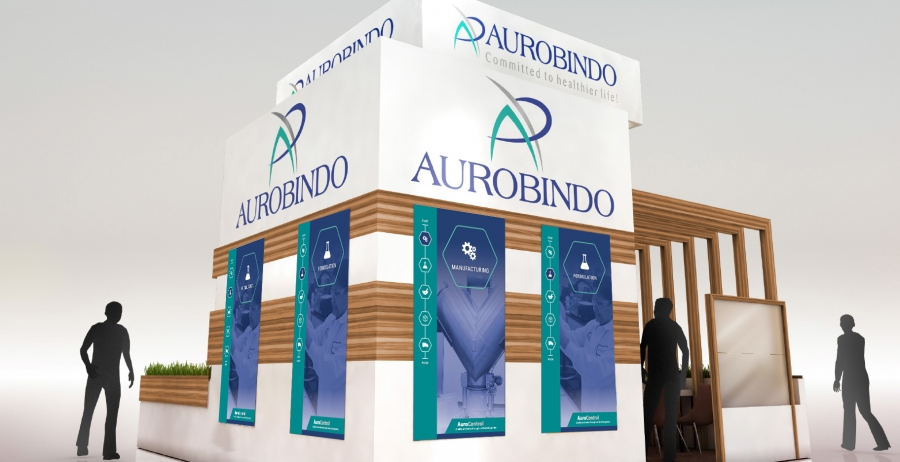 Aurobindo Trade Show Booth Panels Option 2