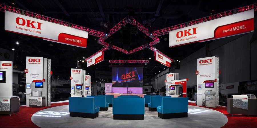 OKI Printing Solutions Trade Show Booth 01