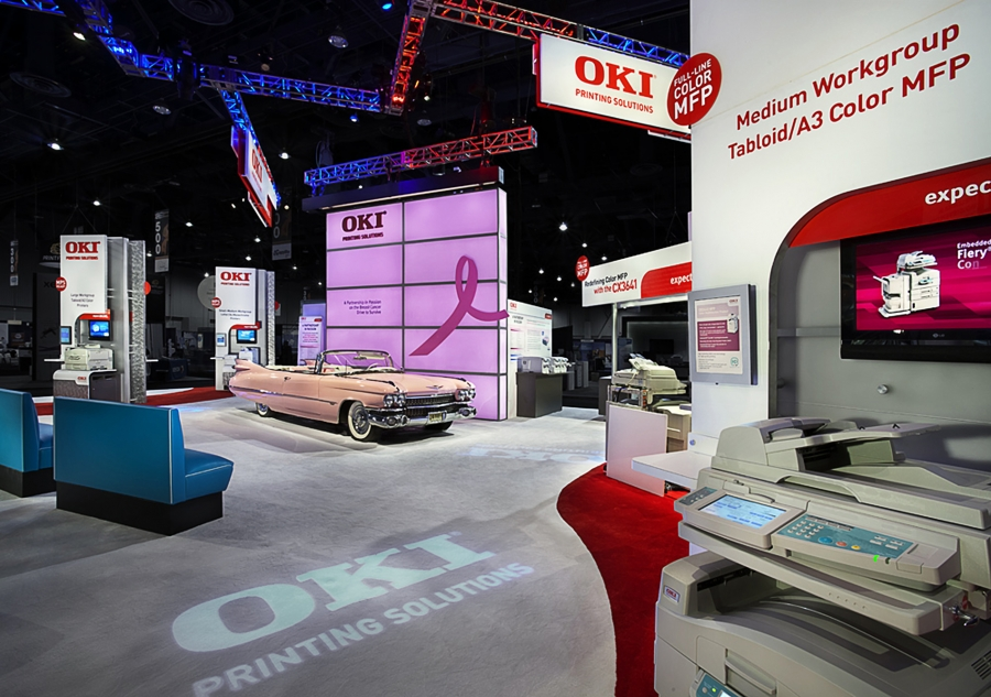 OKI Printing Solutions Trade Show Booth 02