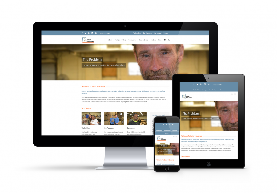 Website Responsives Baker Industries