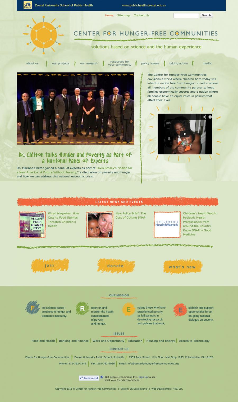 The Center for Hunger-Free Communities, Drexel program in Philadelphia