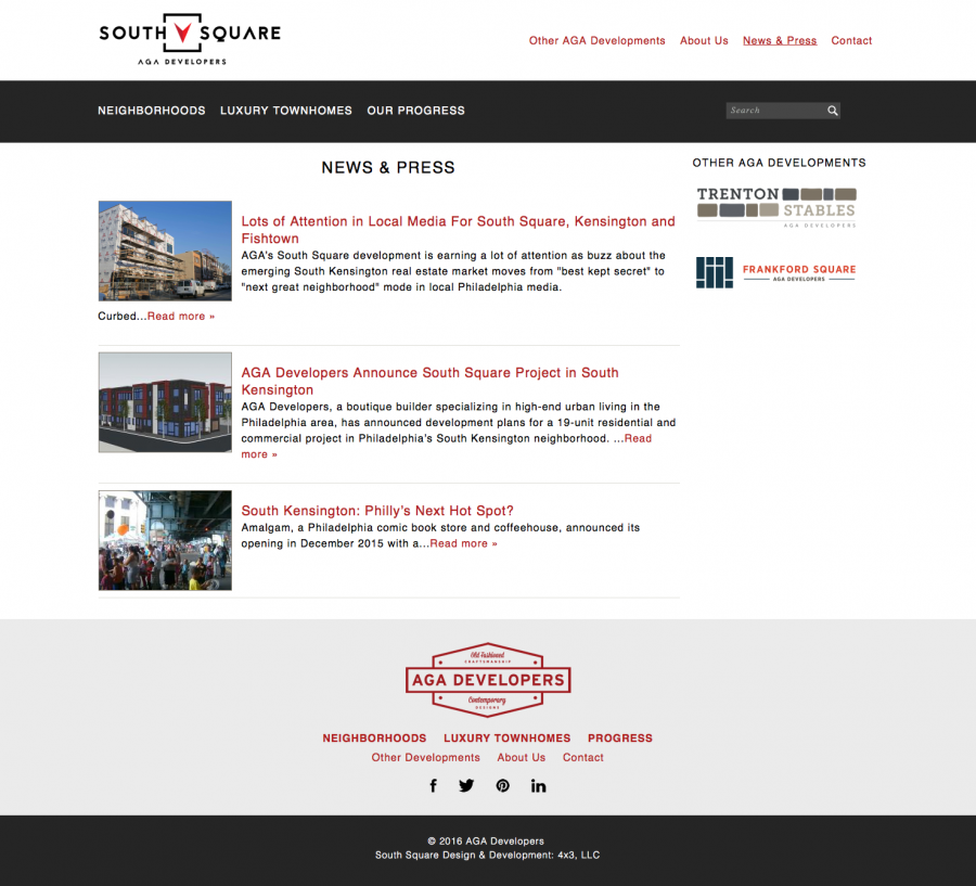 South Square, News & Press Web Section