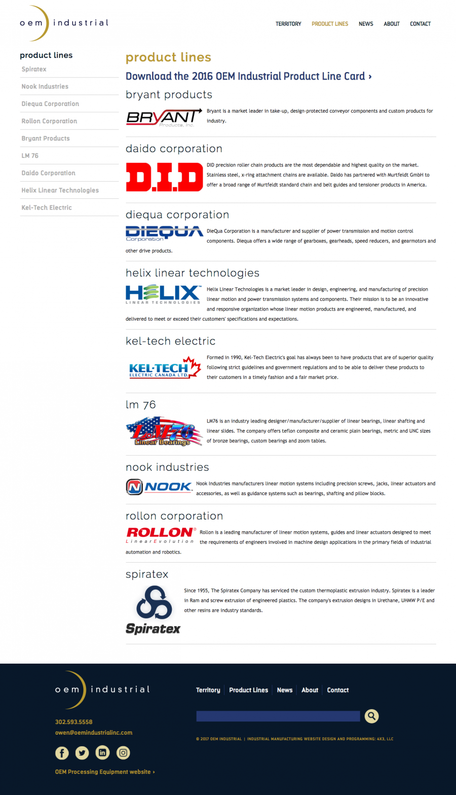 OEM Industrial Product Lines
