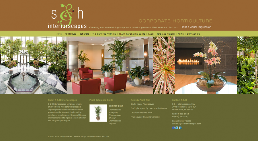 S&H Interiorscapes, Responsive Website