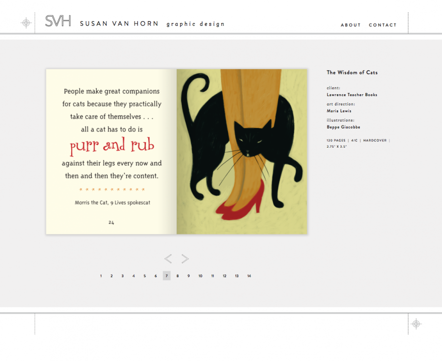The Wisdom of Cats Print/Book Design