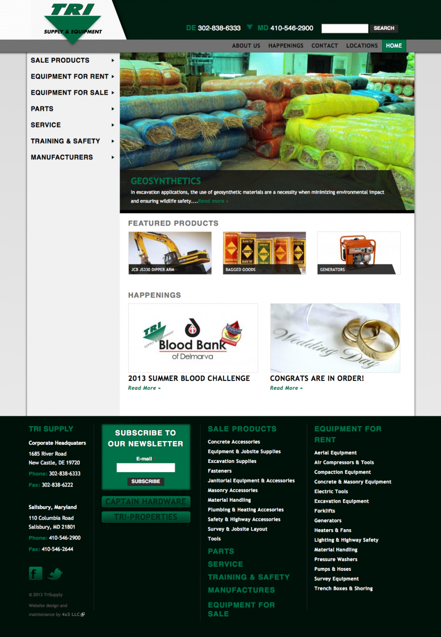 Tri Supply Website Design and Development