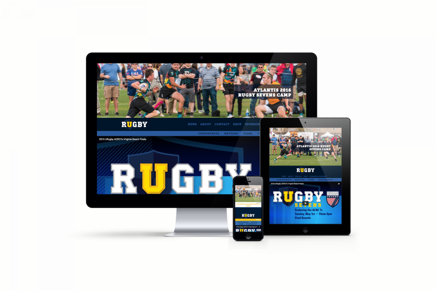 URugby Website on iPhone, iPad, Desktop
