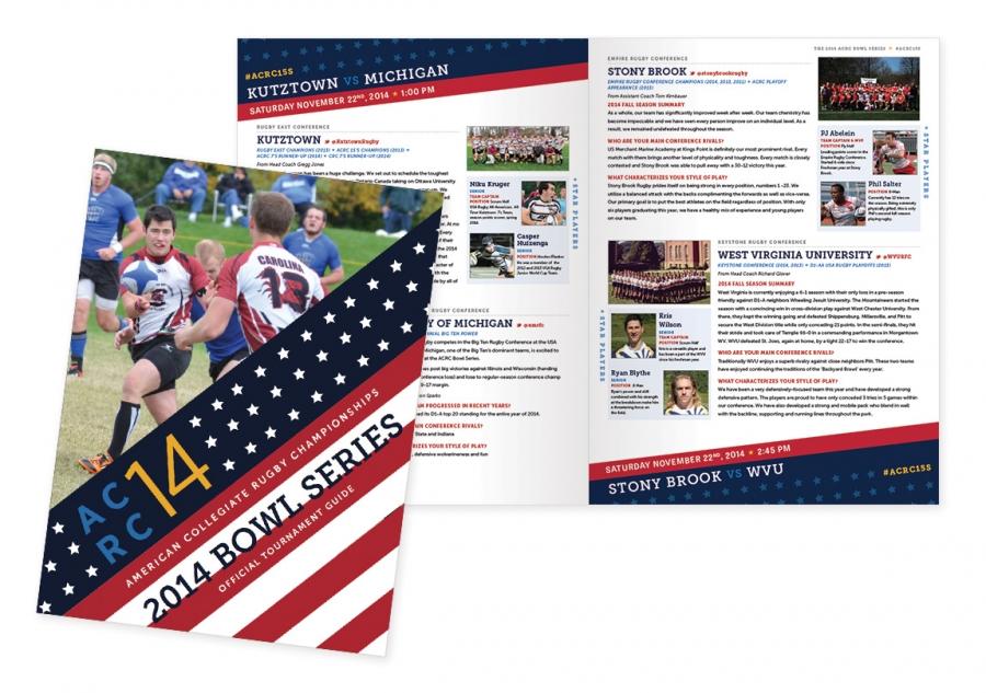 Custom Print Design for Rugby Tournament Brochures