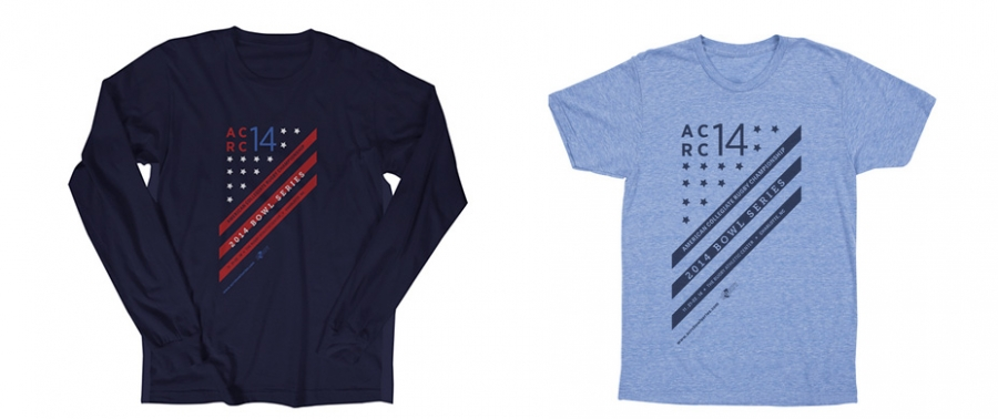 Custom Designed t-shirts and sweaters for ACRC Tournament
