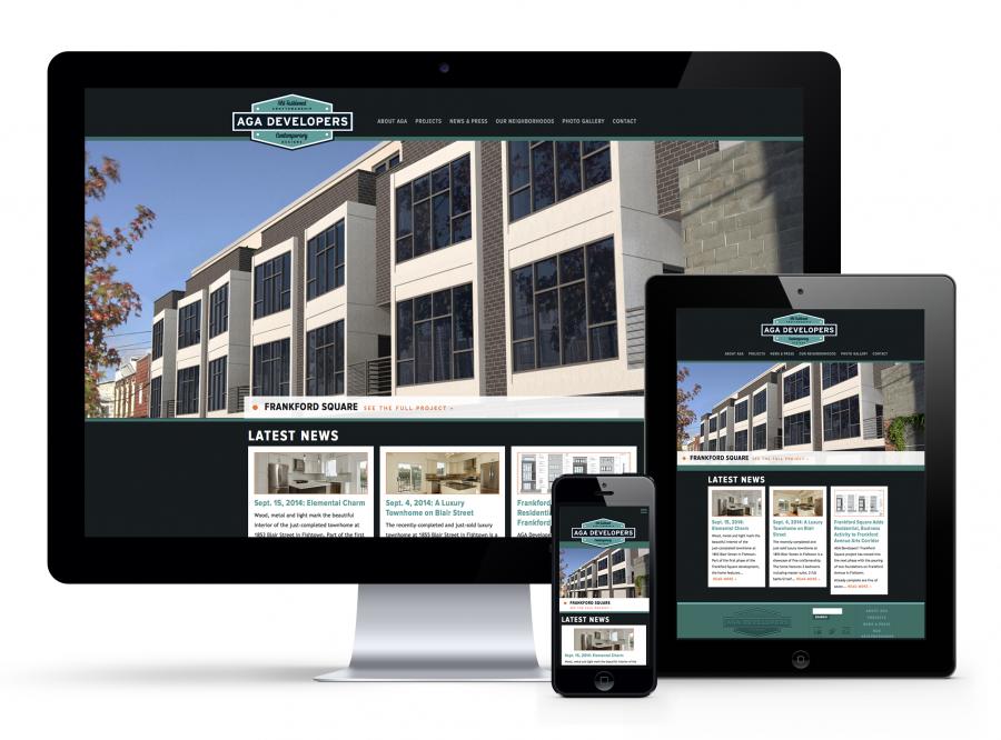 AGA Franklin Square website on Desktop, iPad, iPhone