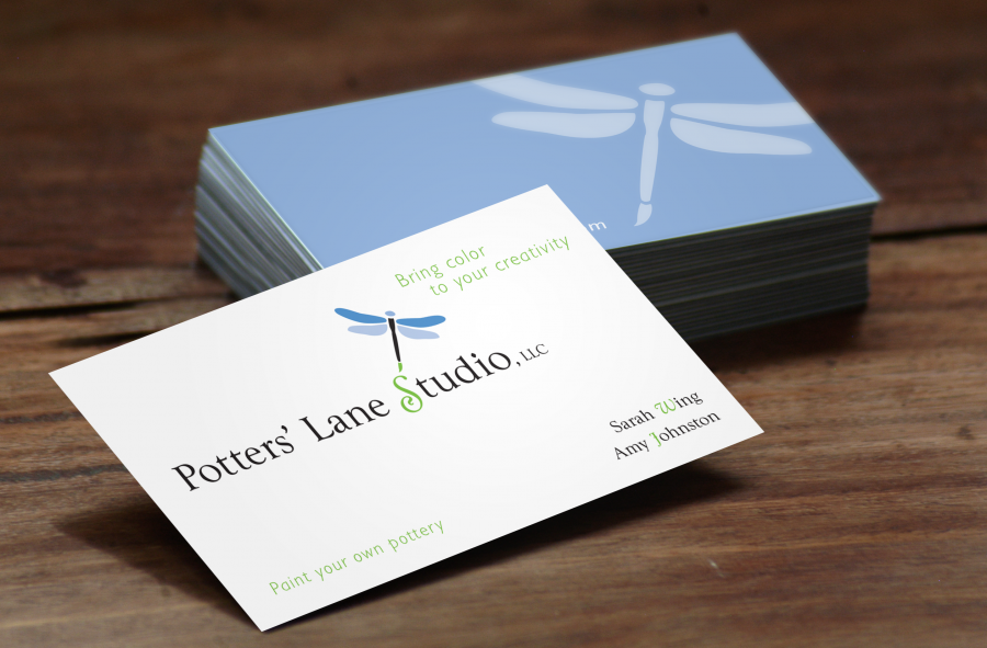 Potters' Lane Logo on New Business Cards