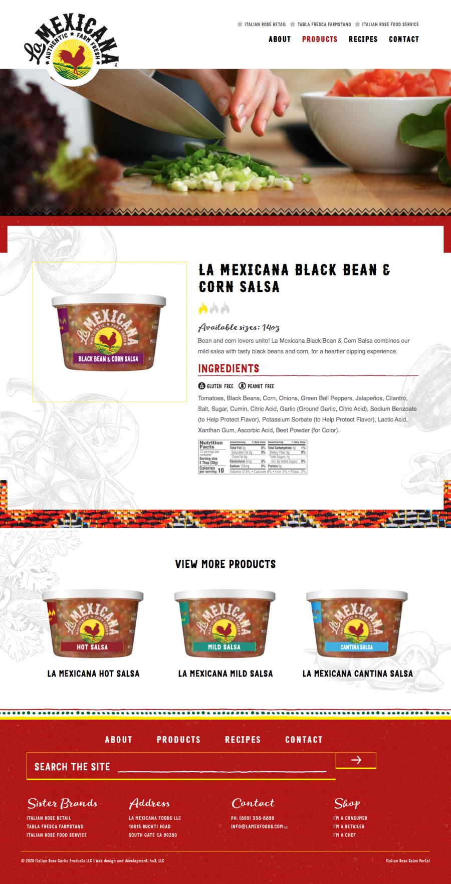 La Mexicana product page