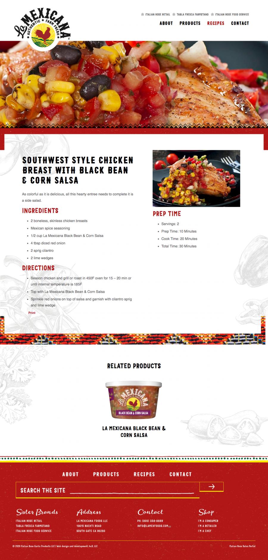 La Mexicana recipe page