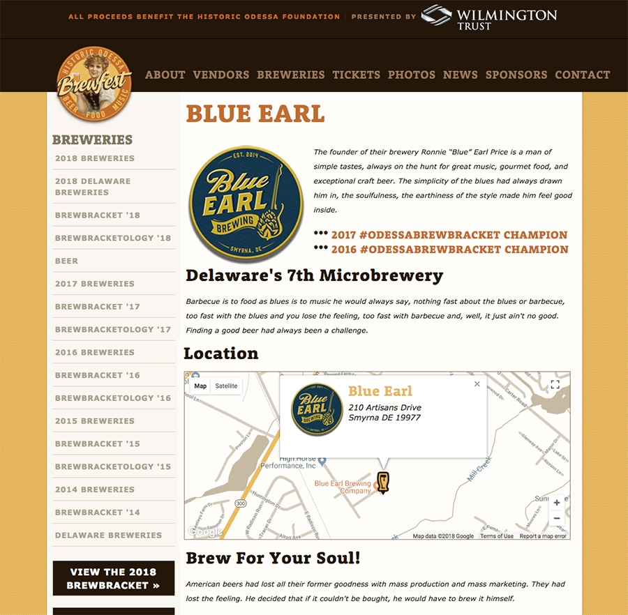 Individual Map on Brewery Landing Page