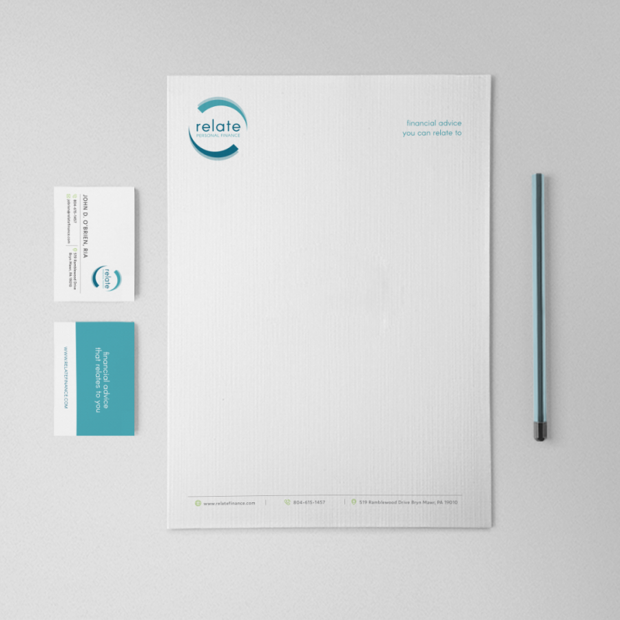 Relate Personal Finance Stationery and Business Cards