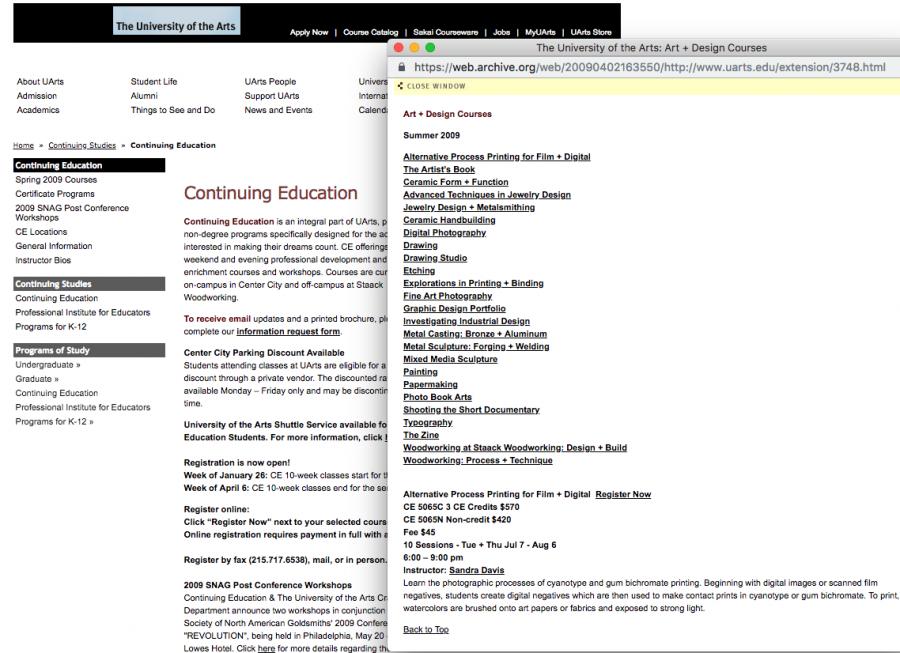 Education Website Course Database