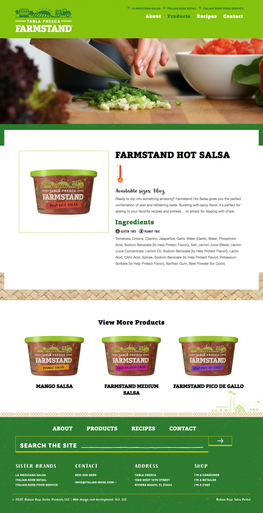 Tabla Fresca Farmstand product page