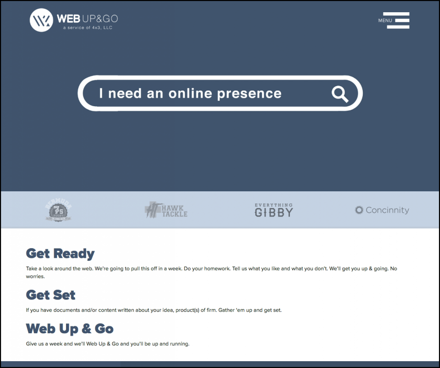 Web Up&Go Screen 1