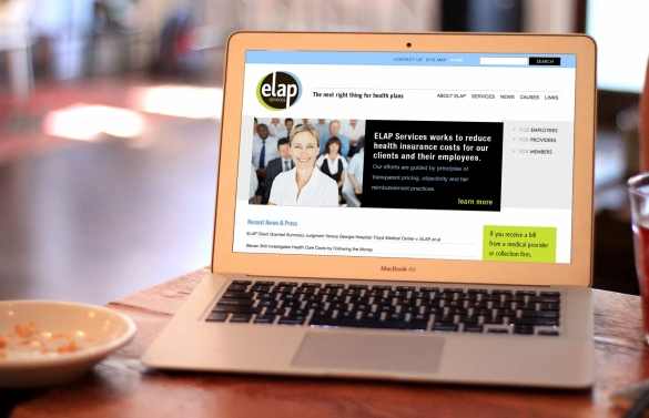 ELAP Homepage, featuring recent news, navigation menu, search bar