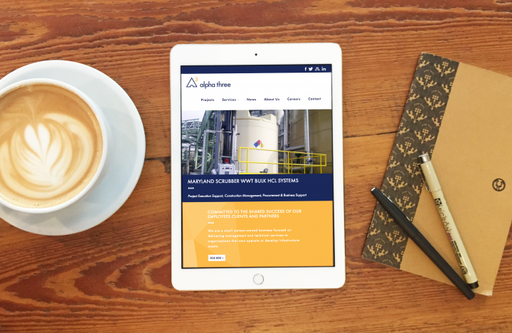 Alpha 3 tablet homepage