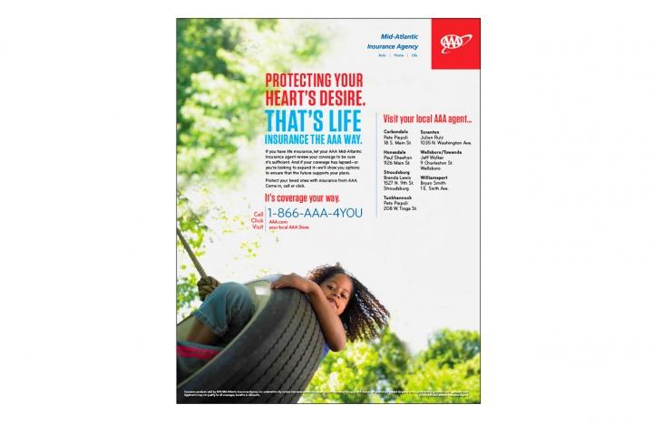 AAA Insurance ad layout