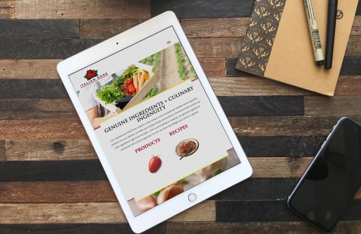 Italian Rose website on iPad