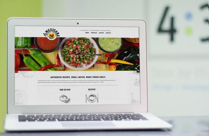 La Mexicana website on laptop
