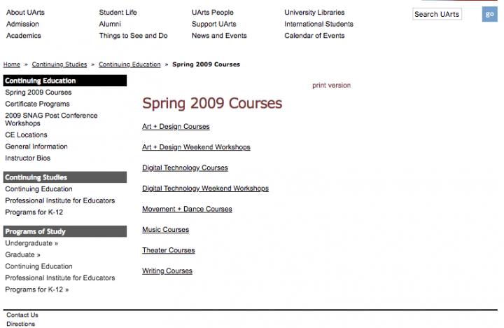 Custom Designed Education Website Database