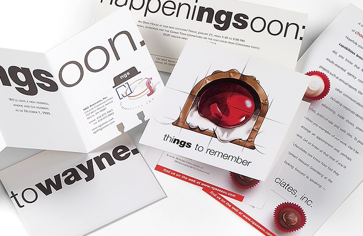 Moving Announcement, Custom Print Design and Direct Mailer