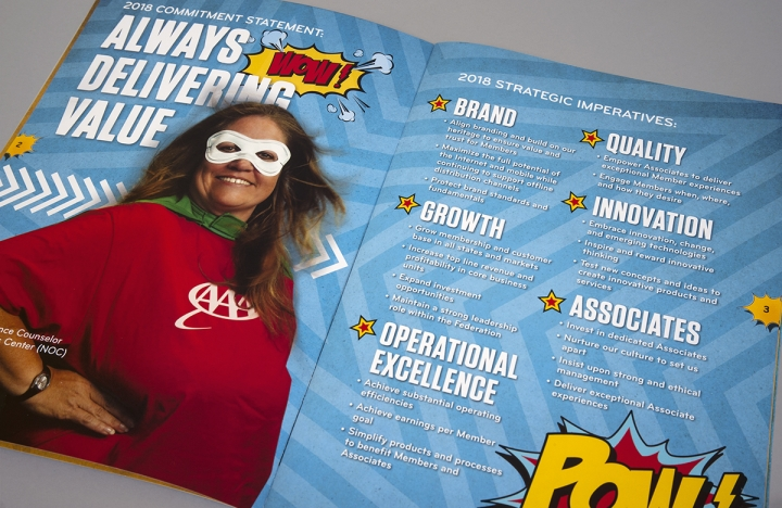 Interior of AAA Strategic Plan Brochure