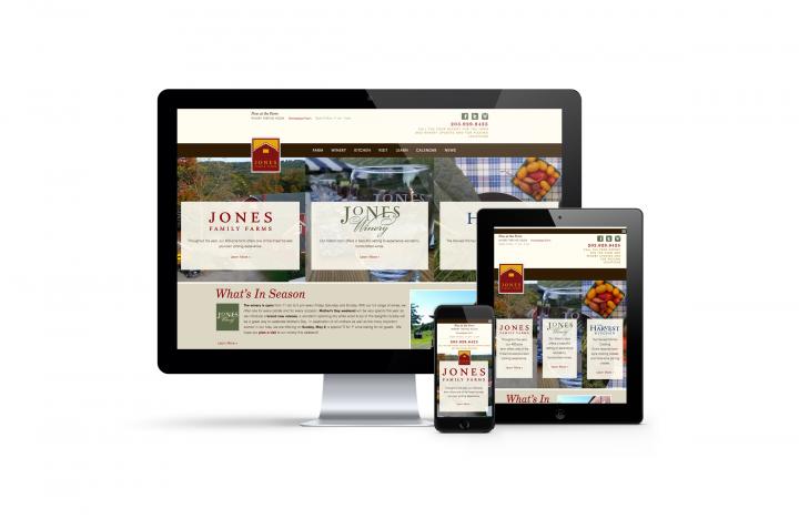 Jones Family Farm Responsive Design